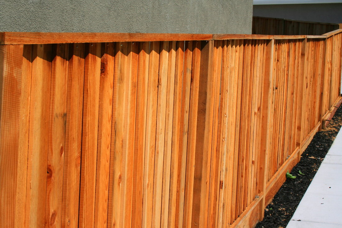a furnished wood fence